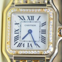 Cartier Panthère Yellow gold 27mm Silver Roman numerals