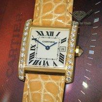 Cartier Tank Française Yellow gold 25mm Silver Roman numerals