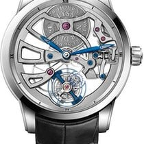 Ulysse Nardin Classic Skeleton Tourbillon White gold 44mm Transparent No numerals