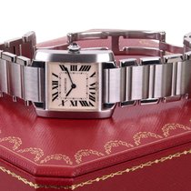 Cartier Tank Francais, Stainless Steel, Box, Ref: 2465