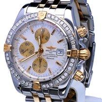 Breitling Chronomat Evolution Pilot Gold Steel Diamonds 44mm...