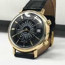 Jaeger-LeCoultre Memovox Date World Time RARE & MINT  BLACK DIAL