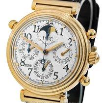 IWC Red gold Automatic Silver Arabic numerals 41.5mm pre-owned Da Vinci Perpetual Calendar