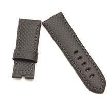 Panerai Authentic Panerai 24/22mm Black Carbon Leather Strap new
