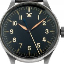 IWC Pilot Steel 55mm Black Arabic numerals