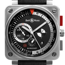 Bell & Ross BR 01-94 Chronographe Stal 46mm Czarny