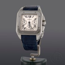 Cartier Santos 100 pre-owned 42mm Chronograph Date