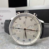 IWC Portuguese Chronograph Staal 41mm Zilver Arabisch Nederland, Drachten