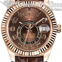 Rolex Sky-Dweller Rose gold 42mm Brown Arabic numerals United States of America, Florida, 33431