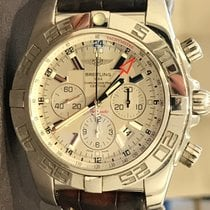 Breitling Chronomat GMT Steel 47mm Silver No numerals
