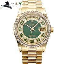Rolex Day-Date 36 Oro giallo 36mm Verde