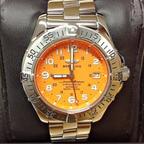 Breitling Superocean A17360 Orange Dial - Serviced by Breitling
