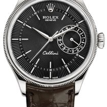 Rolex Cellini Date Oro blanco 39mm Negro