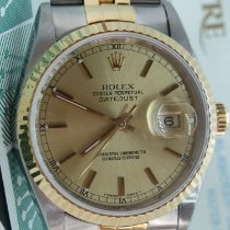 Rolex Datejust Champagne Dial B&P -1999