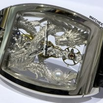 Corum Oro blanco Transparente 34mm usados Golden Bridge