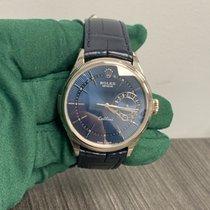 Rolex Cellini Date Weißgold 39mm Blau Keine Ziffern