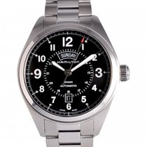 Hamilton Khaki Field Day Date Steel 42mm Black Arabic numerals