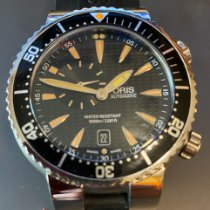 Oris Aquis Small Second pre-owned 47mm Black Date Rubber