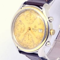 Wyler Or/Acier 38mm Remontage automatique Wyler Geneve Swiss 38mm Chrono 18K Gold bezel steel Valjoux occasion