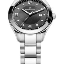 Maurice Lacroix Miros Date Ladies Steel Case and Strap,...