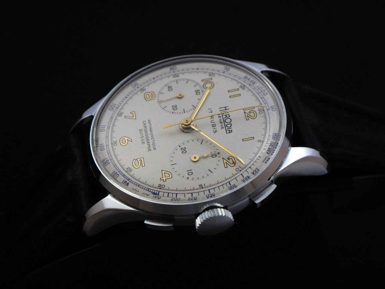herodia landeron chronograph 60 39 s nos verkauft auf chrono24. Black Bedroom Furniture Sets. Home Design Ideas