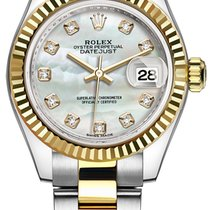 Rolex Lady-Datejust Or/Acier 28mm Nacre