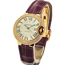 Cartier WE902036 Ballon Bleu - Diamond Bezel - Rose Gold on...