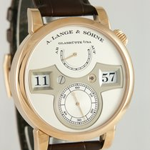 A. Lange & Söhne Red gold Manual winding Silver 41mm pre-owned Zeitwerk