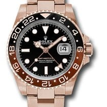 Rolex Rose gold Automatic Black No numerals 40mm new GMT-Master II