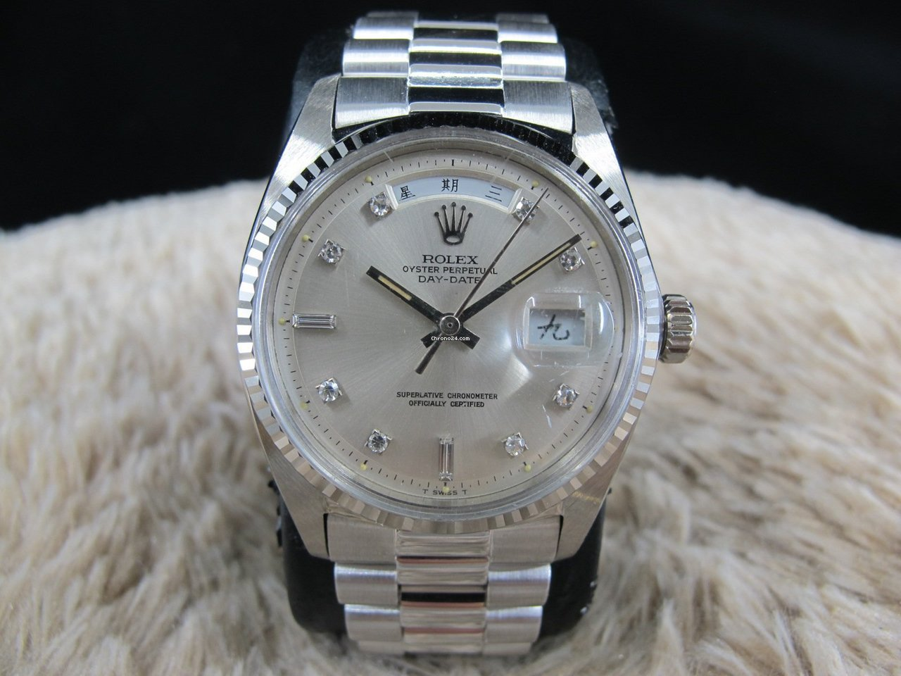 26ea203af07 Rolex DAY-DATE 1803 18K White Gold with Original Silver... for £14,541 for  sale from a Trusted Seller on Chrono24