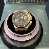 Audemars Piguet Red gold Automatic Black Arabic numerals 44mm pre-owned Royal Oak Offshore Chronograph