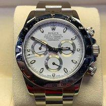 Rolex Daytona Stahl 40mm Weiß Keine Ziffern