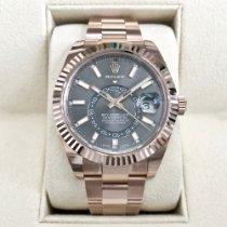 Rolex Sky-Dweller Złoto różowe 42mm Szary Rzymskie