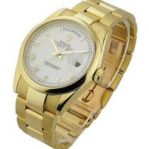 Rolex Used 18208 Mens YG President with Oyster Bracelet 18208...