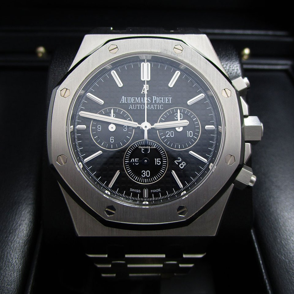 5f04ea190fd5d Audemars Piguet Royal Oak Chronograph Stainless Steel Black Dial for   25