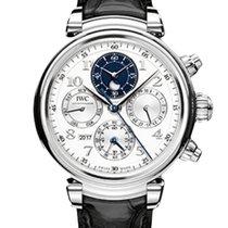 IWC Platinum Automatic Silver 43mm new Da Vinci Perpetual Calendar