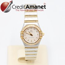 Omega Constellation Gold and Steel with Diamonds