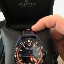 Alpina Plástico Cuarzo Negro Arábigos 45mm nuevo Alpiner