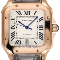 Cartier Rose gold Automatic Silver 39.8mm new Santos (submodel)