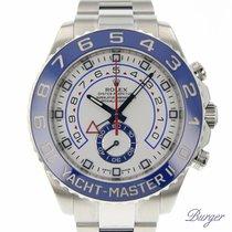 Rolex Yacht-Master II Ατσάλι 44mm Άσπρο Αραβικοί