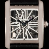 Cartier Tank MC Palladium 34mm Transparent Roman numerals