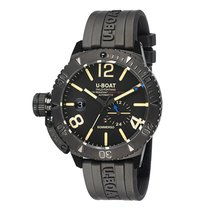 U-Boat Staal 46mm Automatisch 9015 U-BOAT SOMMERSO Acciaio Nero Gomma 300M 46mm nieuw