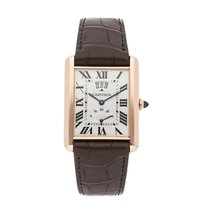 Cartier Tank Louis Cartier Rose gold 38mm Silver Roman numerals