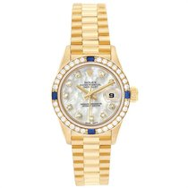 Rolex Yellow gold Automatic Mother of pearl 26mm pre-owned Lady-Datejust