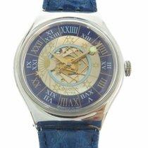 Swatch Platinum Automatic Blue Roman numerals 36mm new