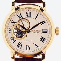 Seiko Yellow gold Automatic White Roman numerals 41mm pre-owned