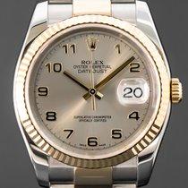 Rolex Datejust Gold/Stahl 36mm Weiß Arabisch Deutschland, Essen