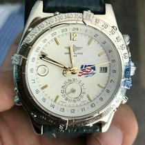 Breitling Duograph 38mm Blanco Árabes