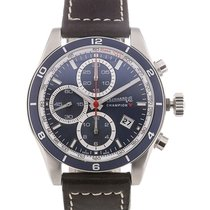 Eberhard & Co. Champion V 43 Chronograph Blue Dial