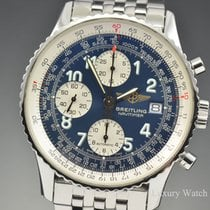 Breitling Old Navitimer II Chronograph Steel Blue Dial A13322